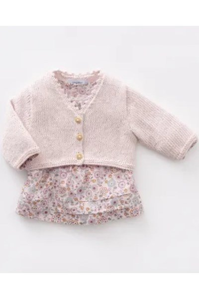 Brei- en haakpatroon Baby vestje