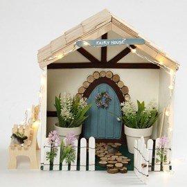 Knutselpakket Huis met tuintje van ....
