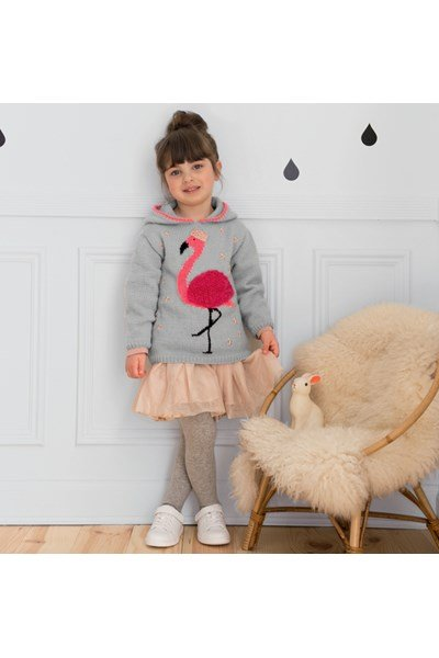 Breipatroon Meisjestrui met flamingo