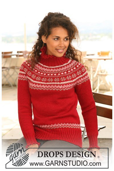 Breipatroon trui met noors patroon