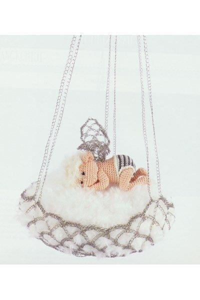 Haakpatroon Baby elfje 25 cm in hangmand