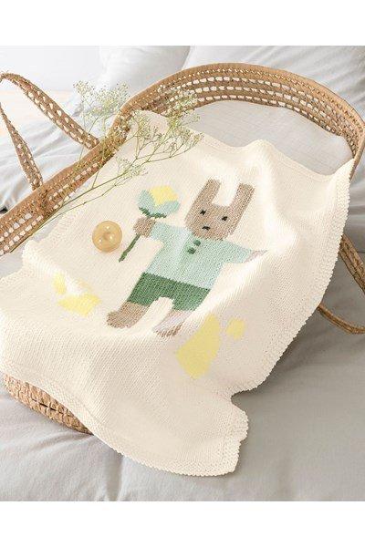 Breipatroon Baby deken