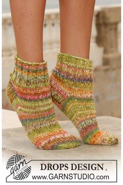 Breipatroon Korte sokken in boordsteek