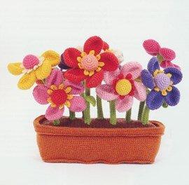 Haakpatroon bloemen in langwerpige ....