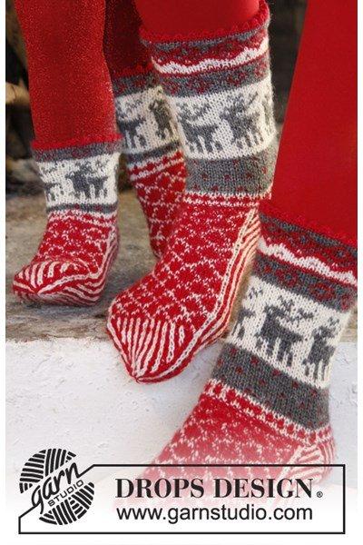 Breipatroon Gebreide sokken met Noors patroon