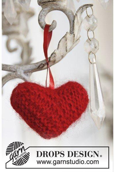 Breipatroon Gebreid Kerst hart