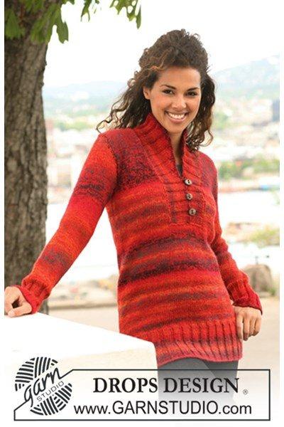 Breipatroon trui met sjaalkraag