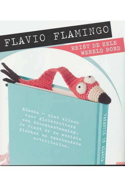 Haakpatroon Boekenlegger Flamingo