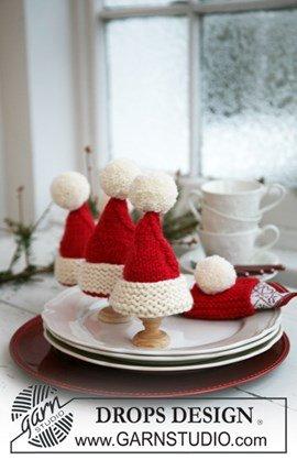 Breipatroon kerst eierwarmers van het ....