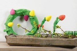 Haakpatroon lente krans en bloemen, ....