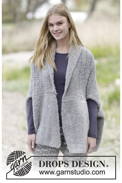Breipatroon Gebreid vest met sjaalkraag
