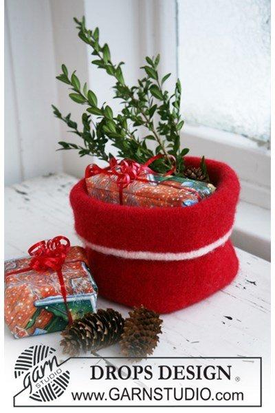 Breipatroon Gebreide en gevilte Kerst mand