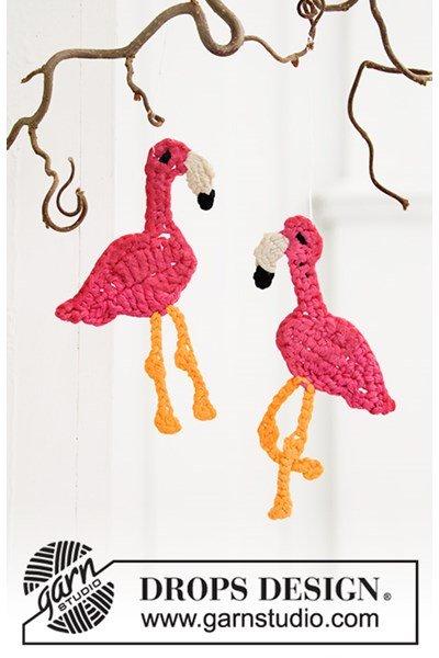 Haakpatroon Flamingo hangers