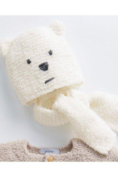 Breipatroon Baby muts en sjaal