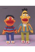 Haakpatroon Bert en Ernie uit ....