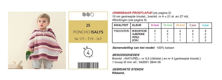 Gratis patroon - Poncho
